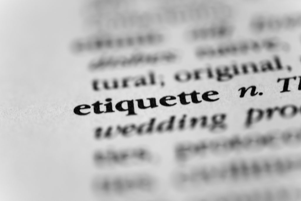 Top five etiquette tips for household staff.
