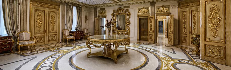 Luxurious Golden Household Interior